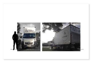Camion Le p'tit Saintongeais marquage publicité